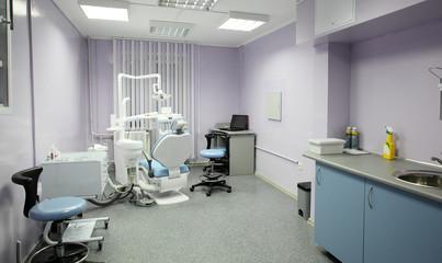bright interior of european stomatology