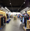 brand new interior of cloth store