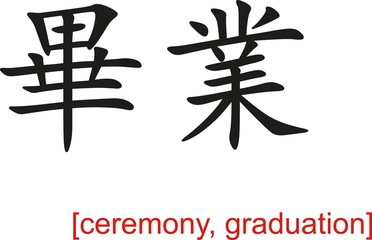 Chinese Sign for ceremony, graduation
