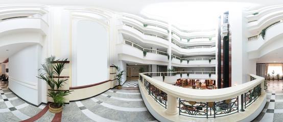 bright modern hotel hallway interior