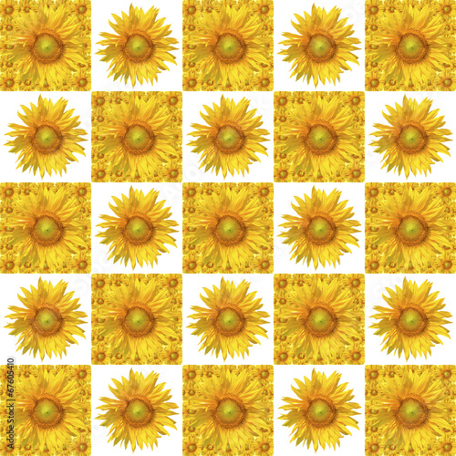 Plakat Sunflower pattern