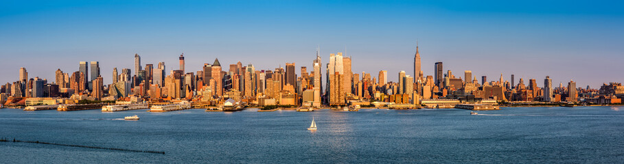 New York City Panorama before sunset