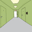 Bright Exit in Hallway