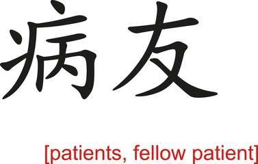 Chinese Sign for patients, fellow patient