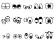 cartoon Expressional eyes icon set