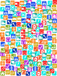 social media icons seamless pattern background