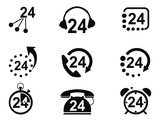 24-hrs service icons