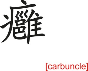 Chinese Sign for carbuncle