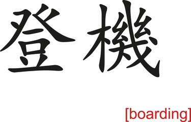 Chinese Sign for boarding