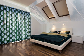 Modern bedroom at home