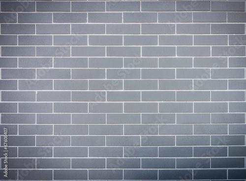 Grey block brick wall - 67608407