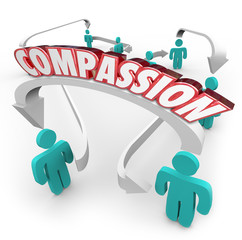 Compassion Connected People Showing Sympathy Empathy for Each Ot