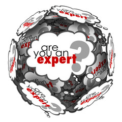 Are You an Expert Thought Cloud Words Knowledge Skills
