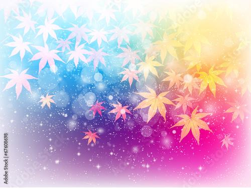 Regenbogen der Baumblätter...