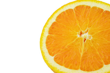 Fresh and juicy sliced Orange on white background. Clipping Path