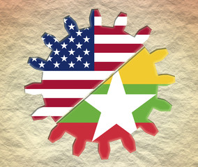 gear with usa and myanmar national flags