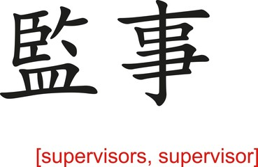 Chinese Sign for supervisors, supervisor