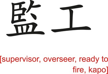 Chinese Sign for supervisor, overseer, ready to fire, kapo