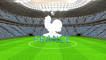 France world cup message with badge and text