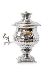 Russian samovar over white