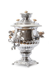Samovar over white