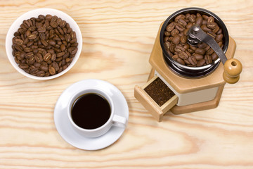 coffee mill,ground coffee
