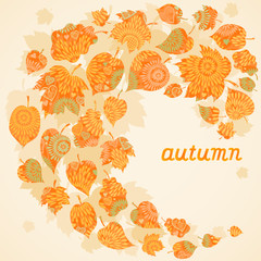 Bright autumn concept background.