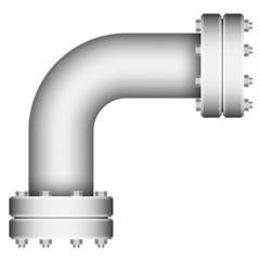 Pipe corner element