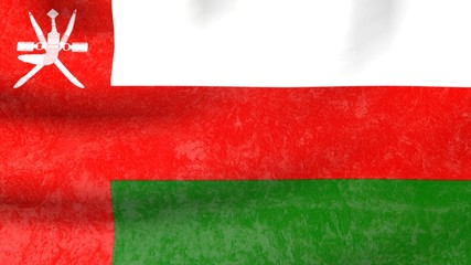 old wall covering textured oman national flag
