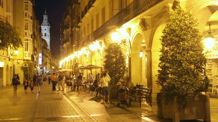 Evening street. Logrono, Spain