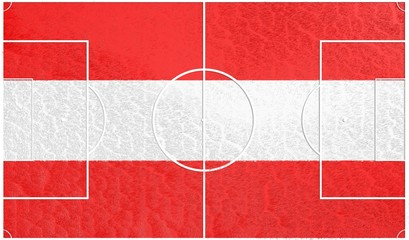 football field textured by austria national flag