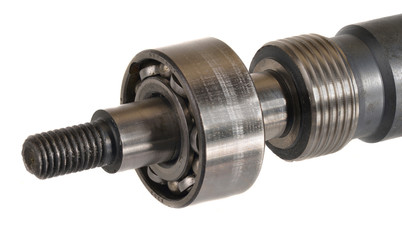 Ball bearings on an axle