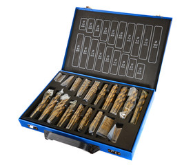 Drill bits, a collection of Titanium nitride.
