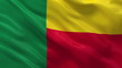 Flag of Benin waving in the wind - seamless loop