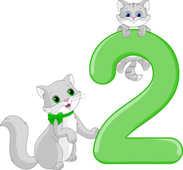 Number two. Two cats