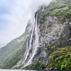 Seven Sisters Waterfall in Norway