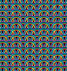 Seamless rainbow pattern tile