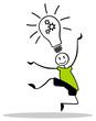 Strichmännchen Lampe