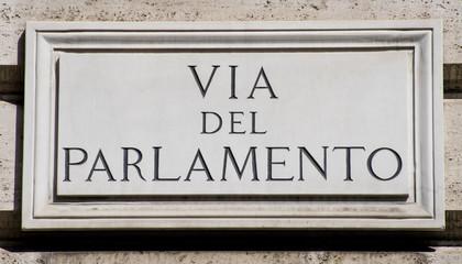 Via del Parlamento