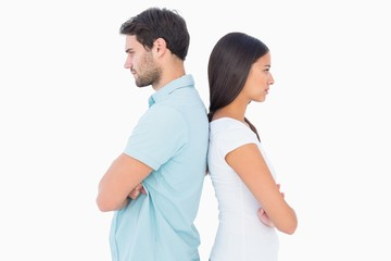 Unhappy couple not speaking to each other