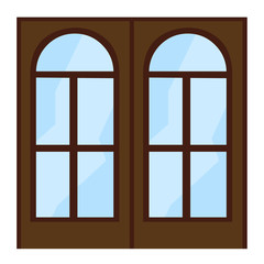 window isolated illustration