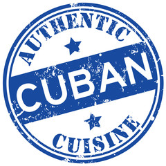 cuban cuisine stamp