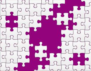 puzzle neutre sur fond violet