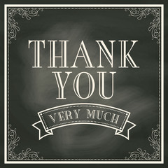 Thank You card with Chalkboard Background