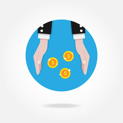 Vector money icon. Financial concept.