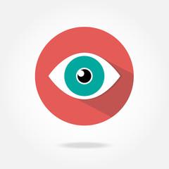 Flat eye icon.