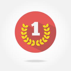 Flat award icon.
