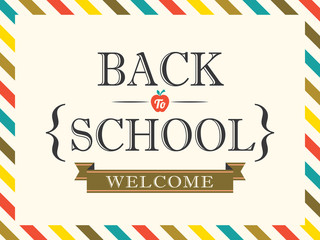 Back to School postcard background template