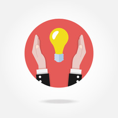 Vector light bulb icon. Idea concept.