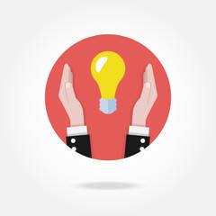 Vector light bulb icon. Idea concept.